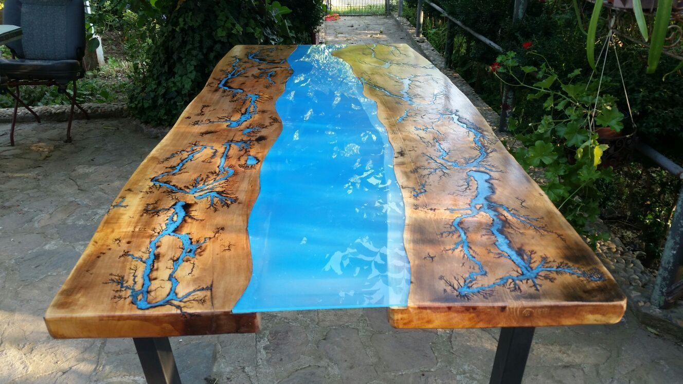 Resin flow table